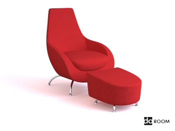 rouge fauteuil confortable multifonctionnel 3d model download free 3d models download. Black Bedroom Furniture Sets. Home Design Ideas