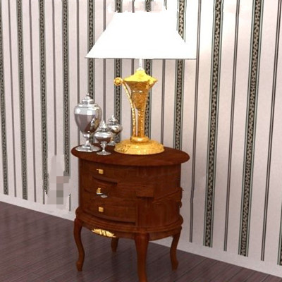 bois brun table de chevet ronde 3d model download free 3d models download. Black Bedroom Furniture Sets. Home Design Ideas