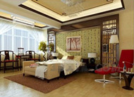 Chinoise chambre charme style chaud
