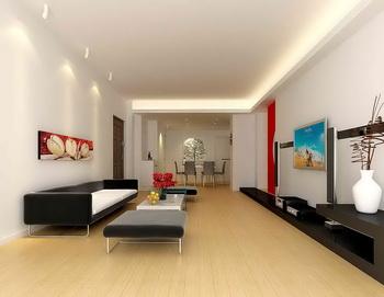 salon grand espace long et troit 3d model download free
