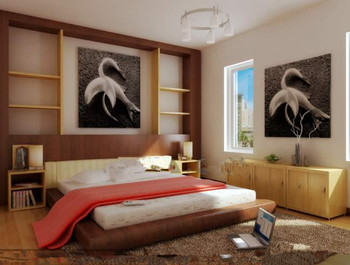 Chaud et simple chambre blanche 3d model download free 3d for Chambre a coucher 3d