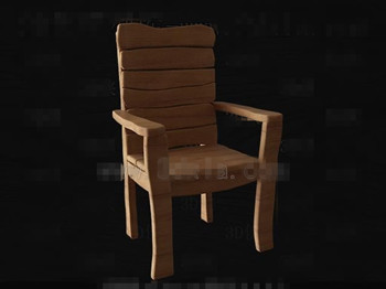 Simple et original chaise en bois 3d model download free for Plan de chaise en bois gratuit