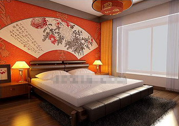 De style chinois chambre orange simples 3D Model Download,Free 3D ...