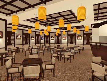 restaurant japonais style brun 3d model download free 3d. Black Bedroom Furniture Sets. Home Design Ideas