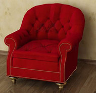 Rouge sofa et confortables simples