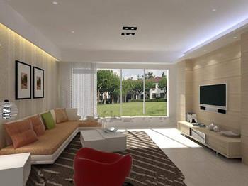 Moderne lumi re ambiante jaune vie chaleureux 3d model for Salon chaleureux moderne