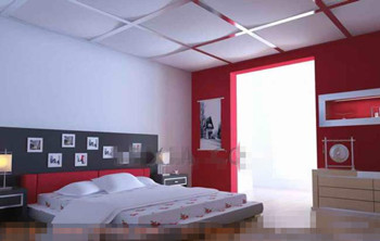 Moderne et ¨¦l¨¦gant chambre blanc rouge 3D Model Download,Free 3D ...