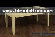 Simple wooden table th¨¦ mod¨¨le 3D