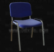 Bleu chaise Structure en m¨¦tal simple