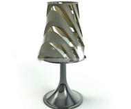 Lampe de table relief m¨¦tal argent