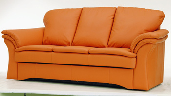 Moderne orange canap¨¦ trois places