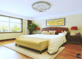Modern bright and clean Chinese bedroom model