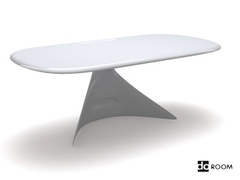 Un simple blanc avec bureau