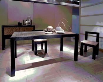 Journaux minimaliste table de salle manger chaise mod for Salle a manger 3d