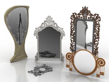 le miroir mod le 3d en europe combinaisons 3d model. Black Bedroom Furniture Sets. Home Design Ideas