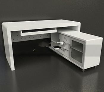 Bureaux d 39 ordinateur mod les 3d 3d model download free 3d for Exemple de bureau