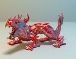 Mod��le rouge Dragon chinois Ornements