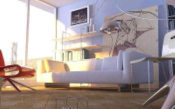 Le soleil minimaliste moderne type de salon mod le 3d 3d for Habitat minimaliste
