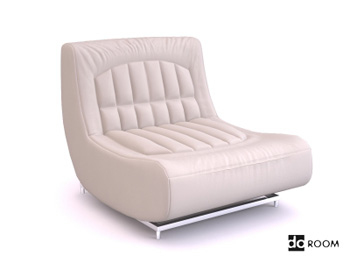 Blanc sofa sans bras unique
