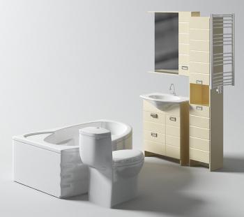 portefeuille d 39 appareils de salle de bains 3d model download free 3d models download. Black Bedroom Furniture Sets. Home Design Ideas