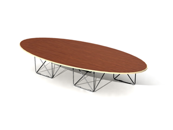 Longue table basse en forme d'arc