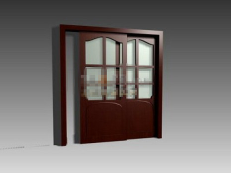 Porte de salle de bains de style moderne 3d model download for Modele de porte de salle de bain