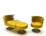 Yellow sofa mod¨¨le fonctionnel