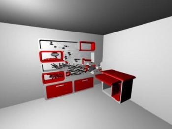 mod les 3d de placard creative 3d model download free 3d models download. Black Bedroom Furniture Sets. Home Design Ideas