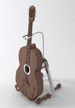 Brown mod¨¨le de la guitare 3d