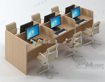 Mod le 3d de bureau de bureau 3d model download free 3d for Meuble bureau 3d
