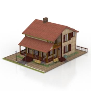 Mod le 3d d 39 une villa moderne 3d model download free 3d models download - Modele d architecture de maison ...