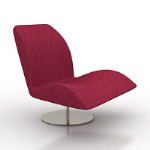 Chaise fauteuil rouge