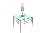Verre lampe de table mod¨¨le 3D