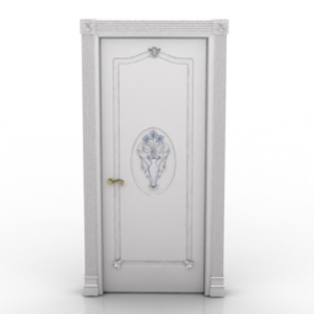 Blanche mod le de porte en bois 3d model download free 3d for Porte blanche en bois