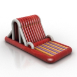 mod¨¨le de chaise de massage rouge