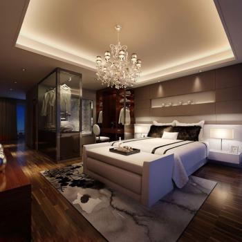 Luxueuse chambre des maîtres mod¨¨le 3d de la mode moderne 3D ...