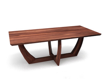 brown table en bois mod¨¨le 3d