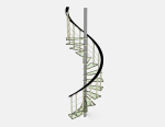 3D, mod¨¨le, simple, spirale, spirale, escalier