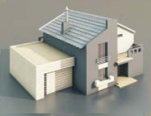 Villa avec un garage / Architectural Model-29