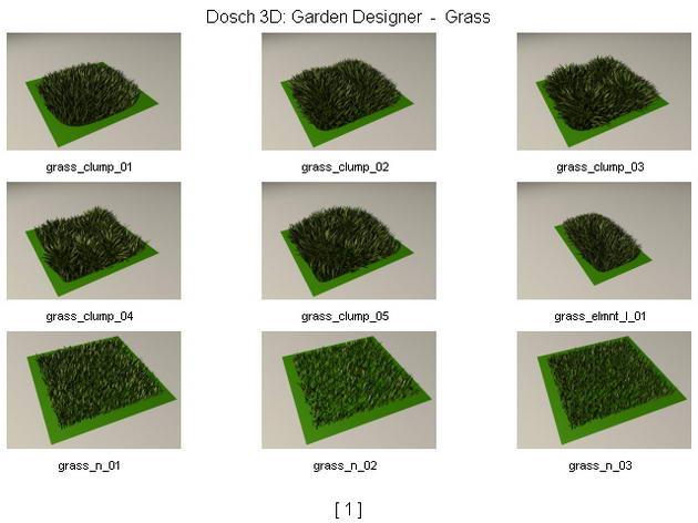 Pelouse herbe gazon 3d model download free 3d models for Plante 3d gratuit