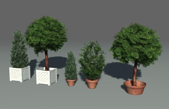 Green Parks Plantes Arbres 3d Model Download Free 3d