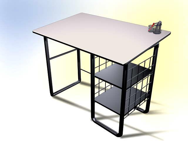 Mobilier de bureau 010 50 3d model download free 3d models for Mobilier bureau 49