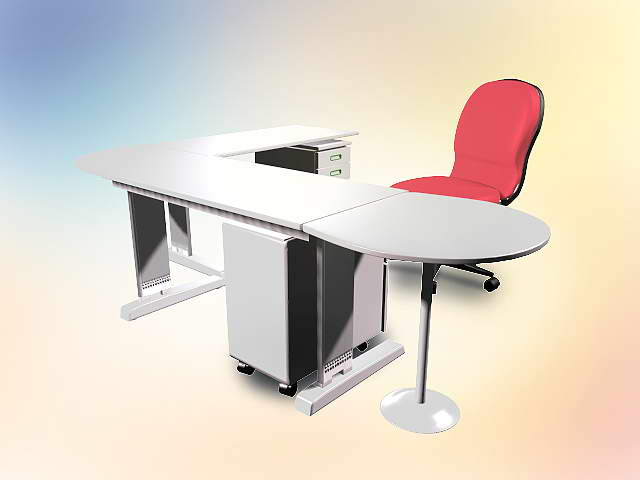 Mobilier de bureau 010 50 3d model download free 3d models for Mobilier bureau 64