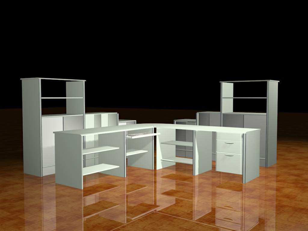 Mobilier de bureau 004 office portefeuille 59 3d model for Mobilier bureau 56