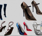 Plusieurs femmes Chaussures