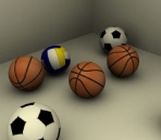 Basket-ball, soccer, volley-ball de mod¨¨les 3D