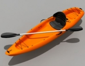 Mod¨¨le 3D de la pirogue orange